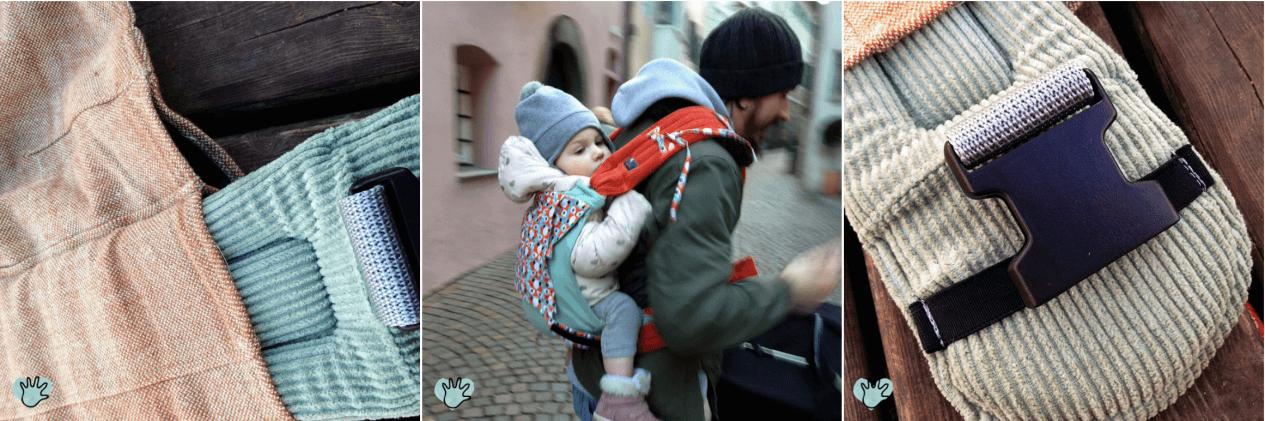 Tragebaby LueMai getestet Fuchsfährte Einzelstück Tragehilfe aus der Schweiz getestet LueMai Mei Tai Trageberatung Natürlich kindgerecht