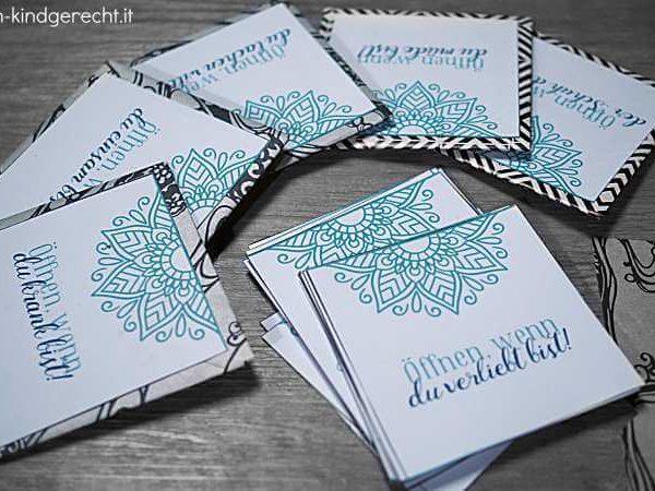 Öffnen-wenn Briefe Geschenkidee Öffnen-wenn-Box