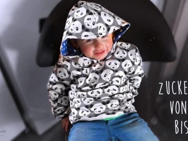 zuckersüß von kopf bis fuß nähen DIY für Kinder Pullover nähen Schnittmuster Hoody Kinder Hoodie selbermachen