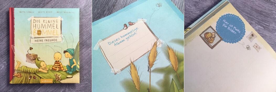 Die kleine Hummel Bommel Meine Freunde Freundebuch closeup