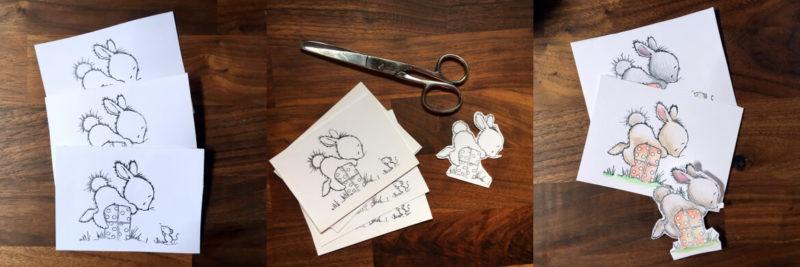 Ausmalbild Osterhase Maus basteln mit Kindern Elternblog Bastelidee Osterhase Ostern