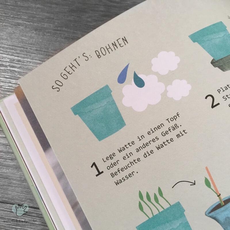 Idee Frühling Kinder Pflanzen Lass uns was pflanzen Garten Frühling gärtnern mit Kind Samen pflanzen Pflänzchen Natur Kind näher bringen Buchtipp Südtirol