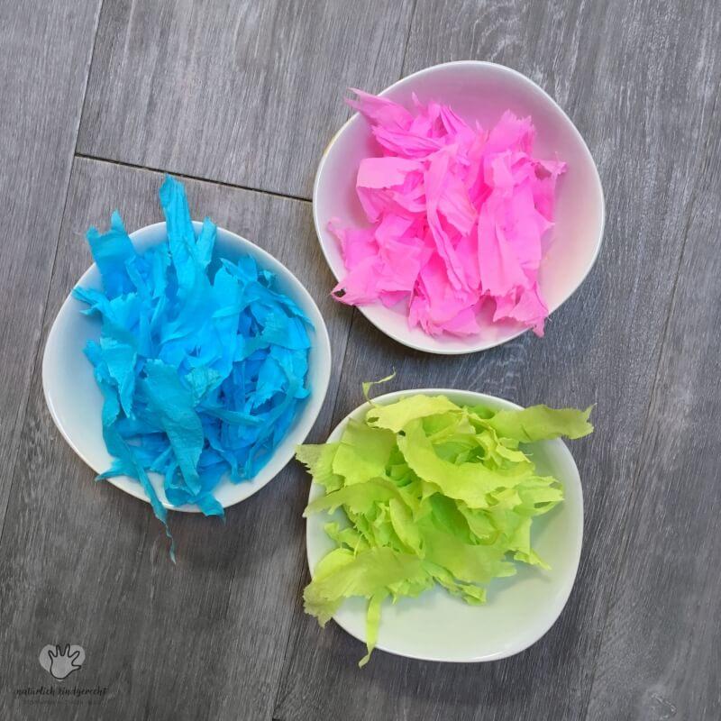Ostereier Farben Mit Krepppapier Naturlich Kindgerecht