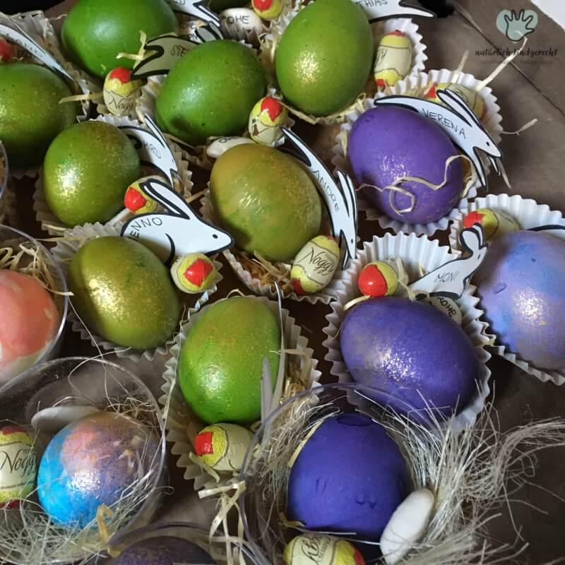 Ostereier färben mit Kind Südtirol Elternblog Bastelidee Eier färben mit Kindern Elternmagazin Infoportal südtiroler Eltern
