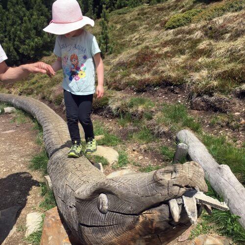 Woody walk Ploseblitz Kinder Wandertipp Familienausflug Eisacktal Brixen
