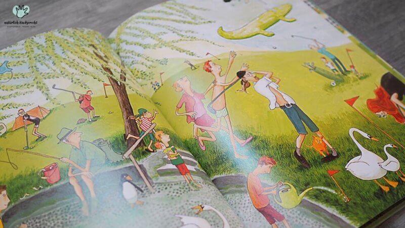 Camping: Urlaub mit Wind und Wirbel Mühlenberg Camping Urlaub bei Wind und Wetter Wimmelbuch Buchtipp Sommerferien Kinder lesen Lesevergnügen tolles Wimmelbuch Suchbuch Wimmel Buchtipp Empfehlung