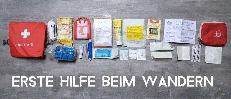 Erste-Hilfe-Set für das Wandern und Hüttenübernachtungen