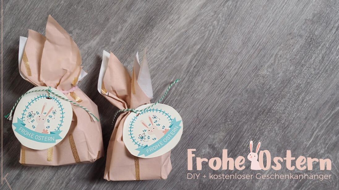 Osterhasen Geschenktüte mit Kindern basteln und Hasentüten Geschenkanhänger