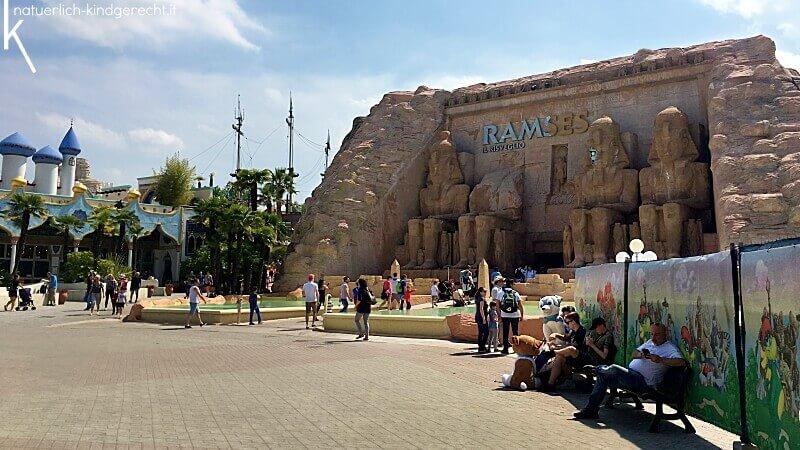 Ramses Il Risveglio Attraktion auch schon für Kleinkinder