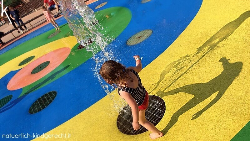 Wasserpark im Gardaland für Kleinkinder
