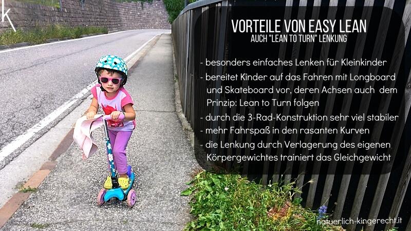 Easy lean Lenkung Kiddimoto Kick-bike für Kinder von Aleha Kids Südtirol