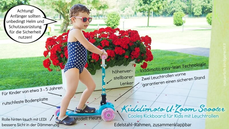 Kiddimoto Roller für Kinder micro kick-board