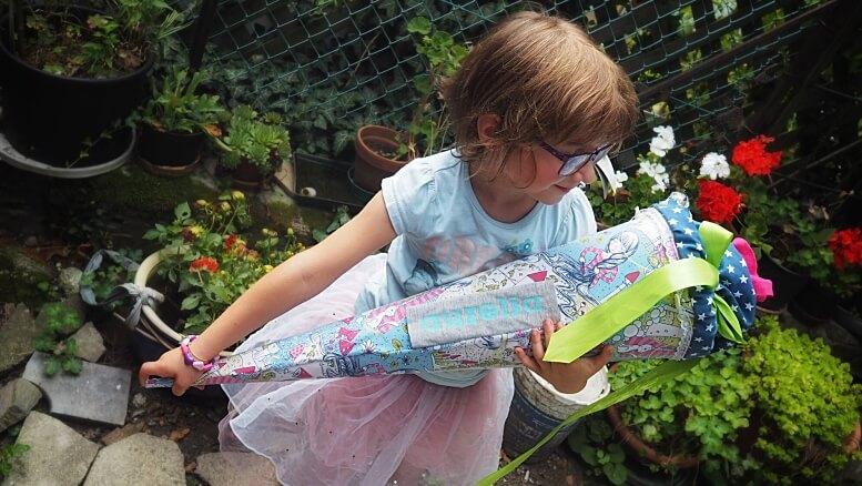Schultüte selbermachen Schulmaterial für Erstklässler