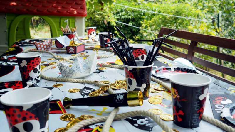 Tischdeko Kindergeburtstag Piratenparty Piratengeburtstag