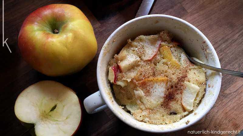 Einfacher schneller Tassenkuchen für Kinder Herbst