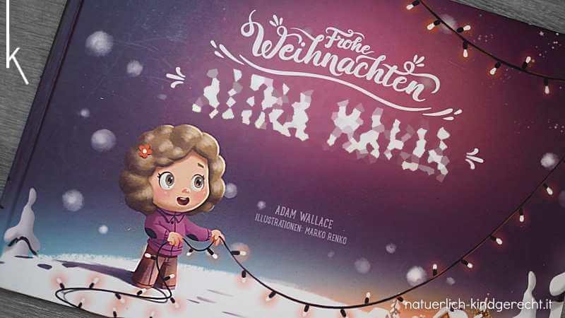 Persönliches Weihnachtsbuch Geschenkidee für Kinder für Weihnachten personalisiertes Weihnachtsbuch