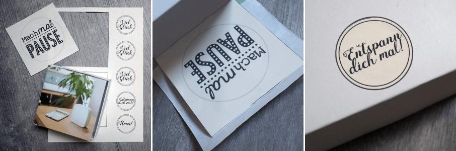 Anti Stress Paket für Freundin Kleinigkeit Geschenkidee