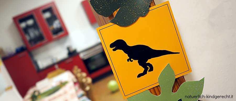 Dino-Geburtstag Dekoration Ideen und Bastelvorlage
