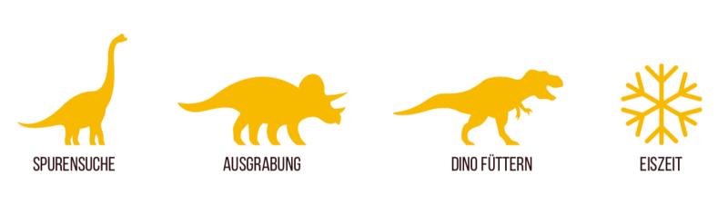 Dinosaurier-Spiele für deinen Kindergeburtstag