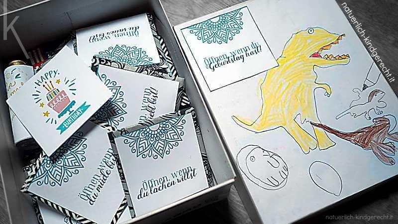 Öffnen wenn Briefe Geschenkidee DIY