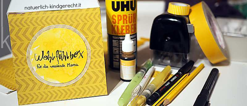 Wohlfühlbox für werdende Mütter basteln Beautycase