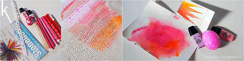 Watercolor Osterkarte basteln Bastelanleitung