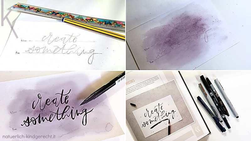 Handlettering Geschenkkarte für Kreative und Bastelfreunde
