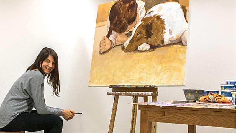 Tamara-Tavella-Art-Kunst-mit-Kind-und-Hund