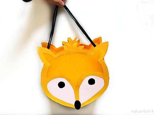 Wir basteln eine Fuchs-Laterne, das Ergebnis