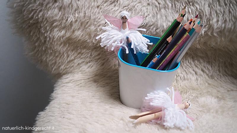DIY Ballerina für den Stiftebecher Ideen für das Mädchenzimmer