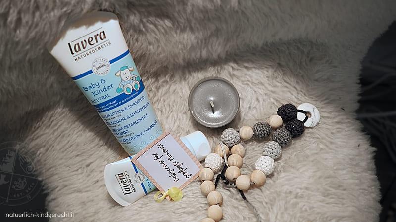 Geschenk zur Geburt Wochenbett-Box Geschenkidee DIY Survivalkit