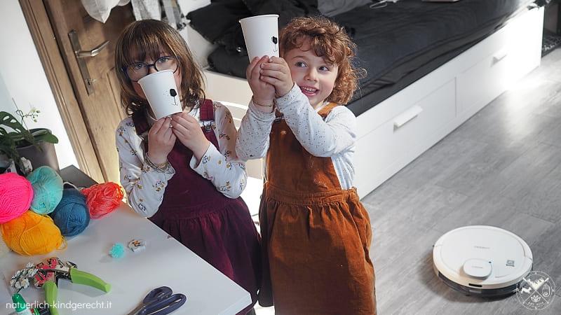 Basteln mit Kindern Osternest Ecovacs Deebot
