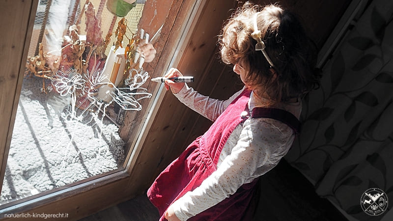 Fensterbild Osterhase KIKA Osterbasteln mit Kind
