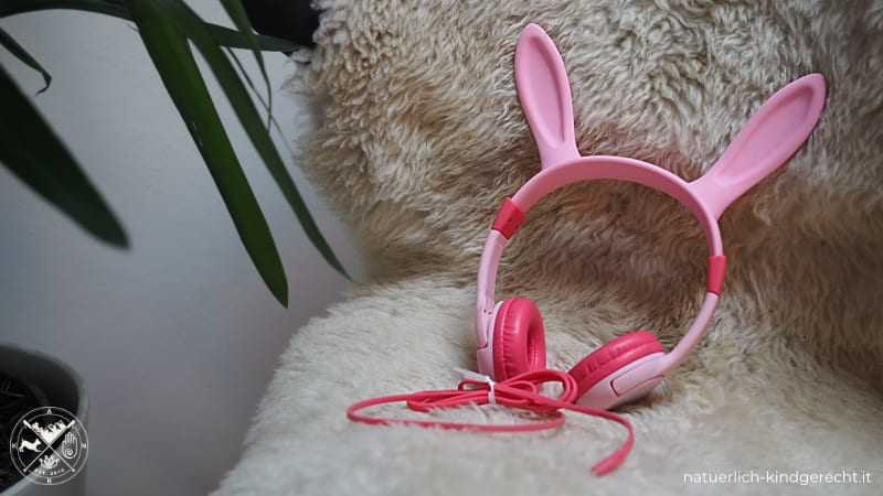 Lobkin Kinder-Kopfhörer mit abziehbar Hasenohren