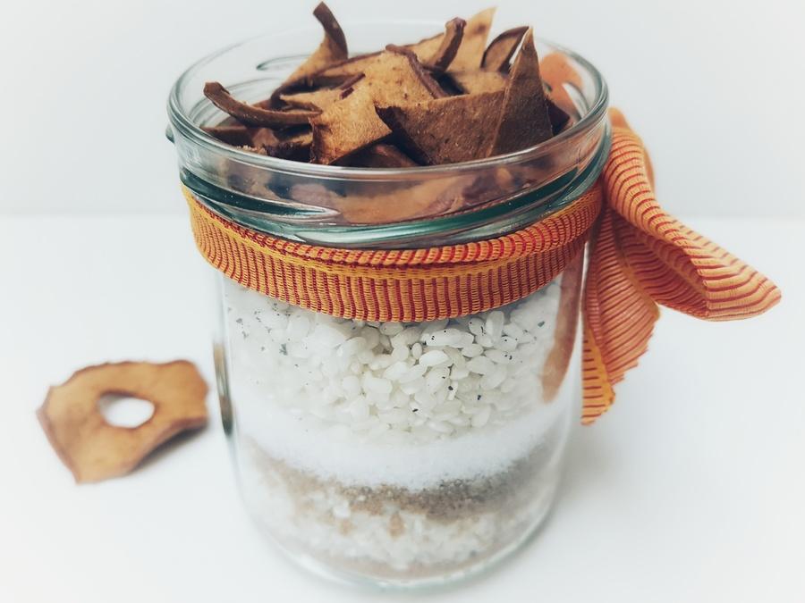 Apfel-Zimt- Milchreis im Geschenksglas