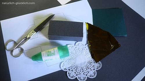 Box basteln DIY Adventskalender