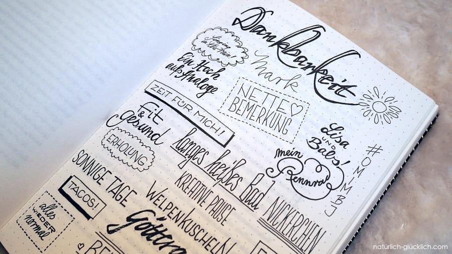 Einblick in das Buch Die Bullet Journal Methode von Ryder Caroll