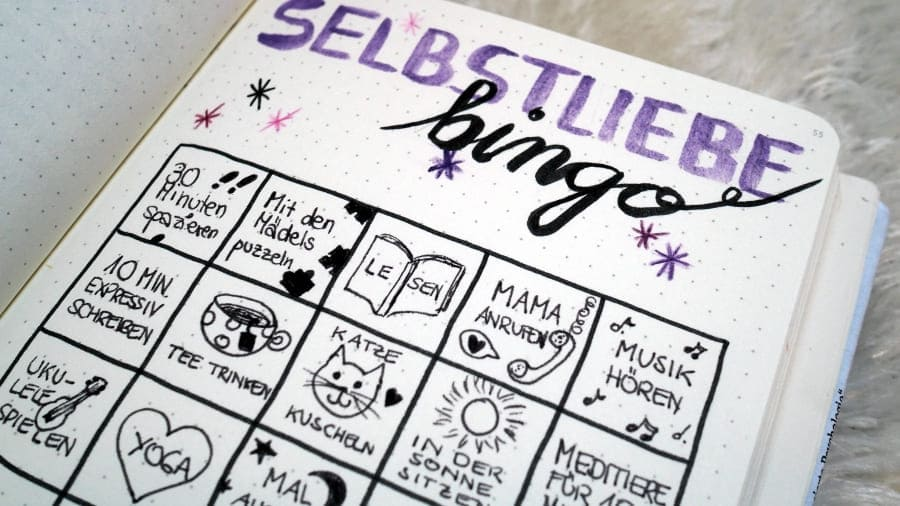 Journaling Inspiration Selbstliebe Bingo (1)