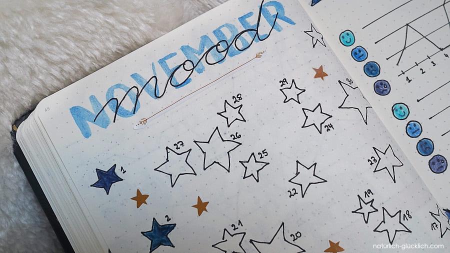 Lebenskompass Journaling Dankbarkeitstagebuch Mood tracker