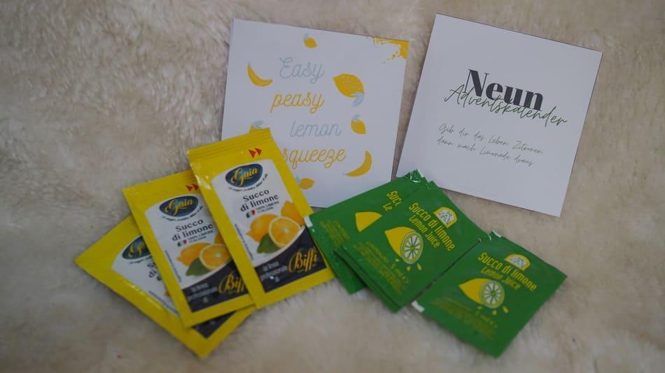 Zitronen im achtsamen Adventskalender