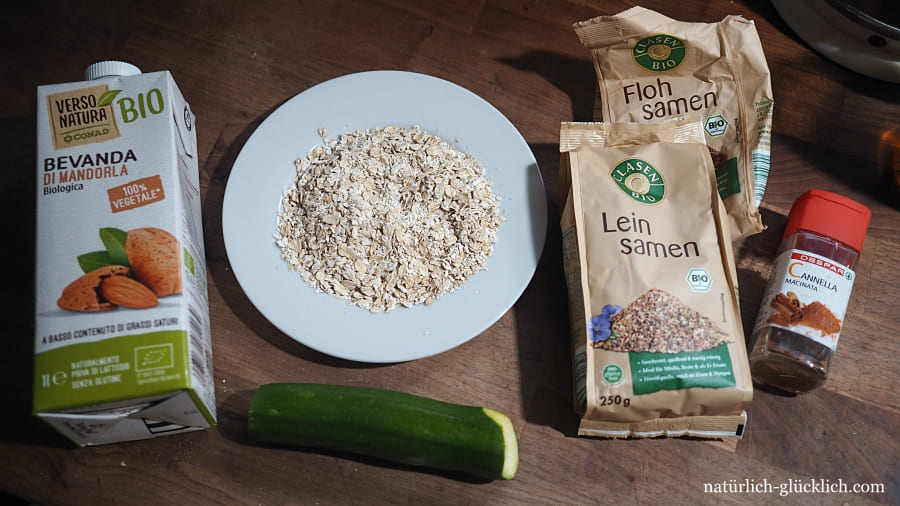 Porridge Haferbrei Ideen Oatmeal Inspiration mit Zucchini
