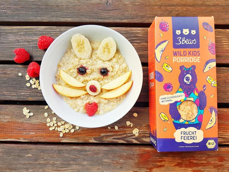 Leckeres Porridge für Kinder zum Frühstück Frühstücksideen Kinder