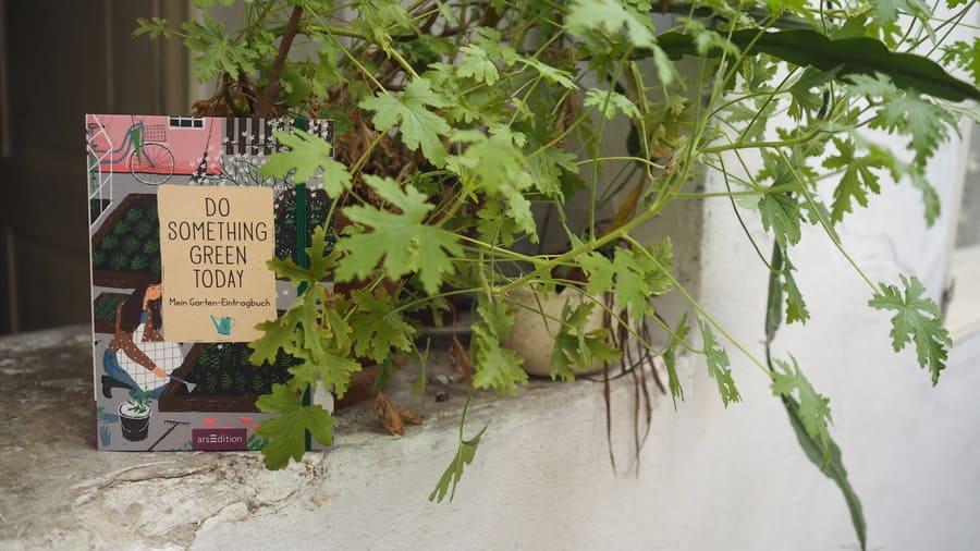 Do something green today Buchtipp Gartenjournal Eintragjournal für den Garten Gartenglück 2