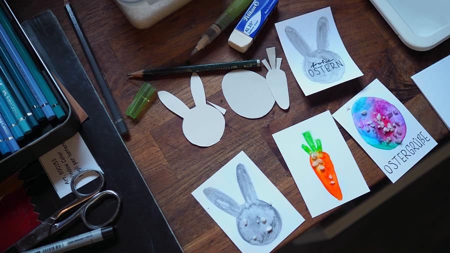 Wir basteln ein Osternest Anleitung Bastelanleitung Osternest Kindergarten