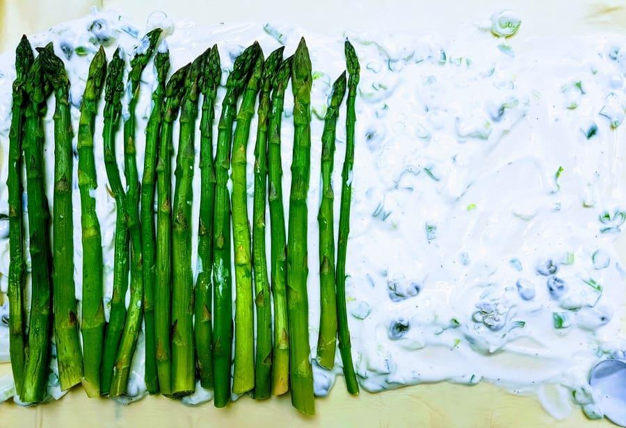 Grüne Spargeltarte
