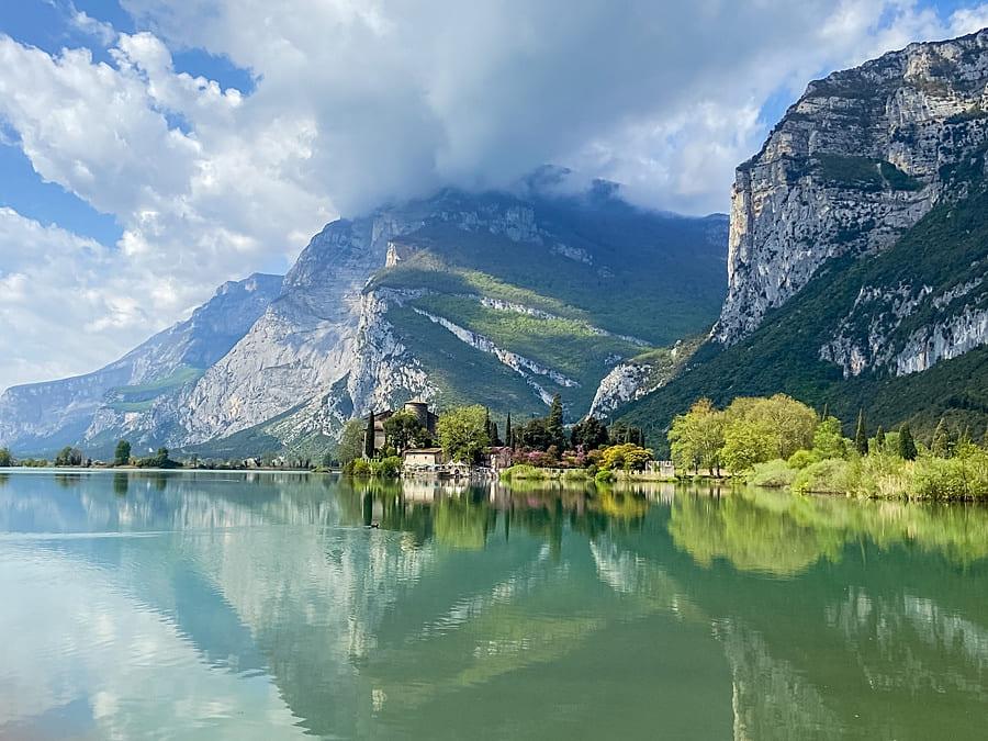 Familienwanderung Lago di Toblino Toblino-See Trentino Trient