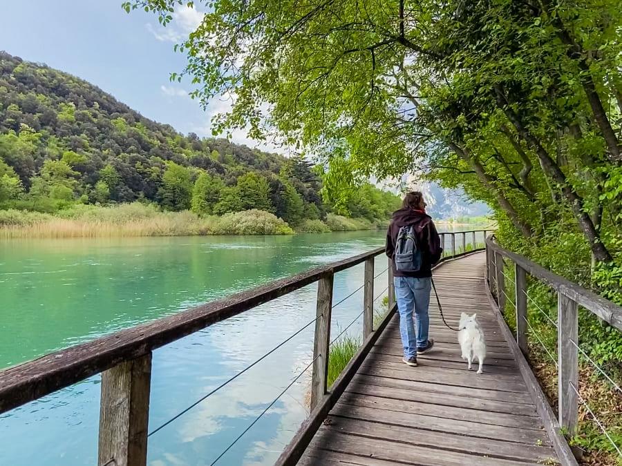 Spaziergang Lago di Toblino im Trentino