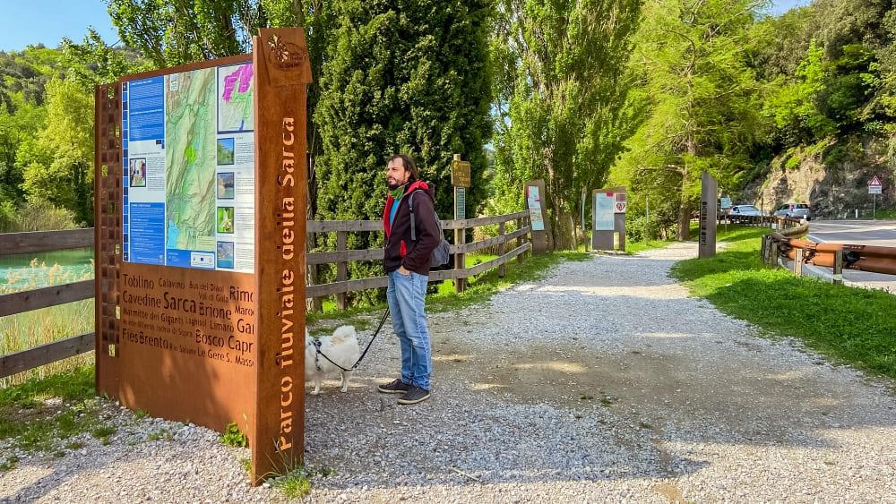 Spaziergang Toblino See zum Castello di Toblino